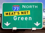 meats not green 90x65 PETA Wants the Greening of Green to Include Changing Citys Name to Meats Not Green for Earth Day